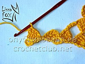 безотрывное вязание передней и задней кокетки 3