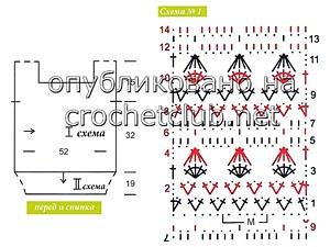 салатовая кофточка крючком-схема 1