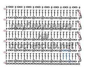 рельефный узор ячейки-схема