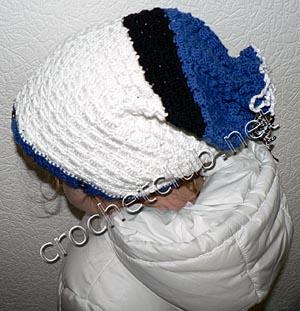 шапка-чулок крючком 5