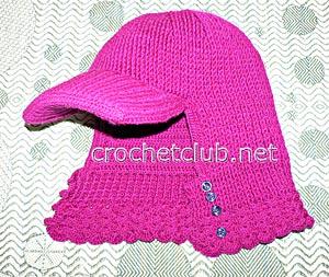 шапка-шлем с козырьком 1