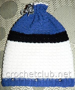 шапка с подкладкой-вид спереди