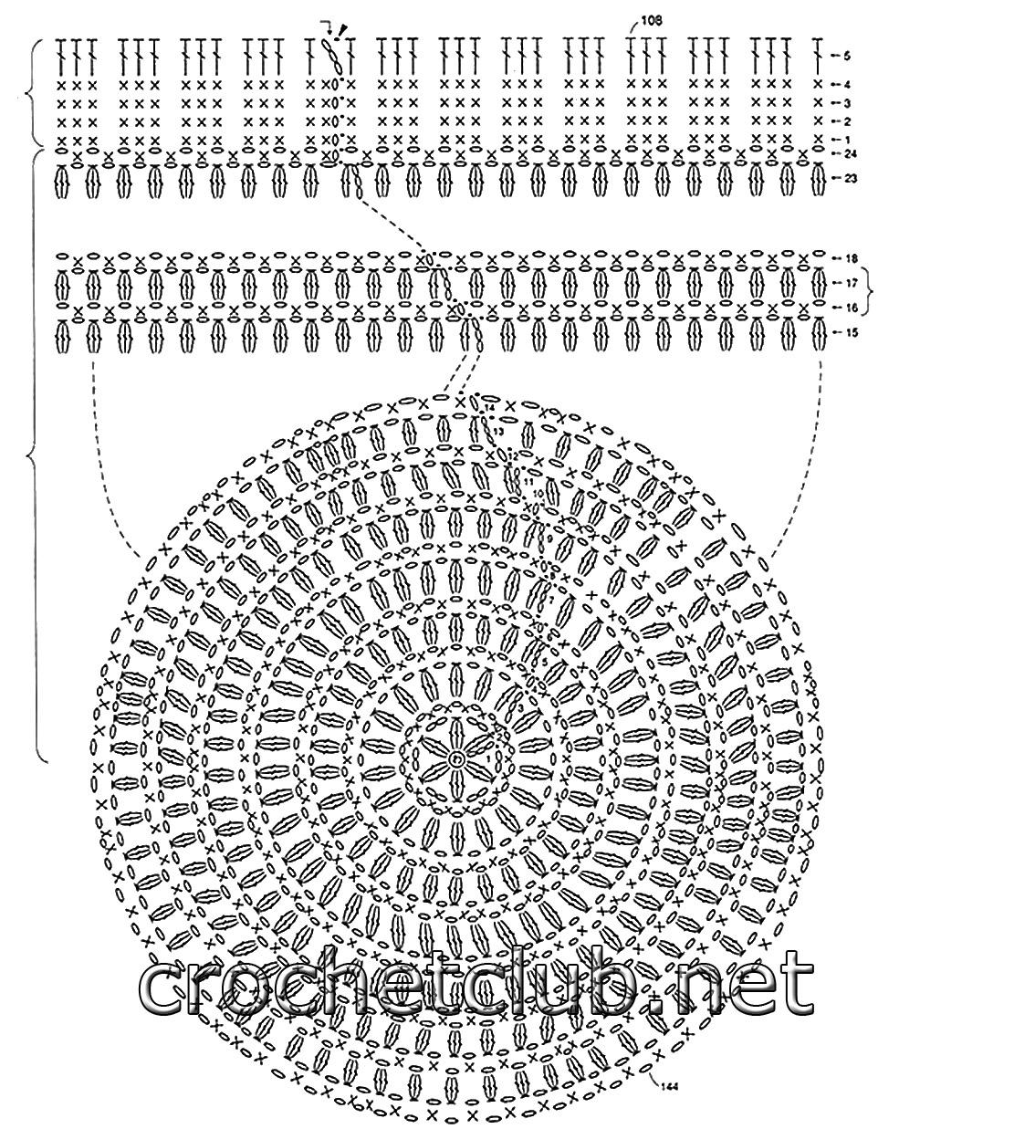 Схема вязания шапочки крючком 83