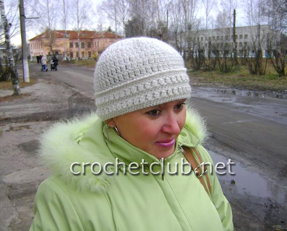 вязание шапочки из мохера для женщин