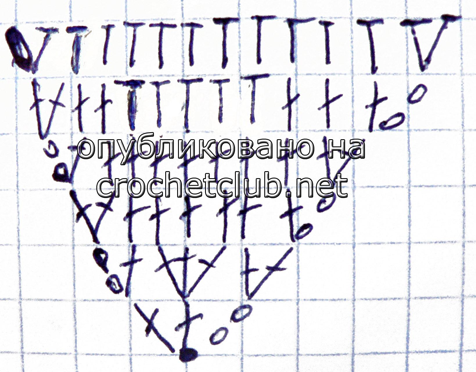 Шапка кошка схема вязания ушек