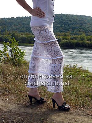 вязаная юбка каскады белых облаков 2