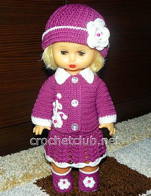 вязаный комплект для куклы