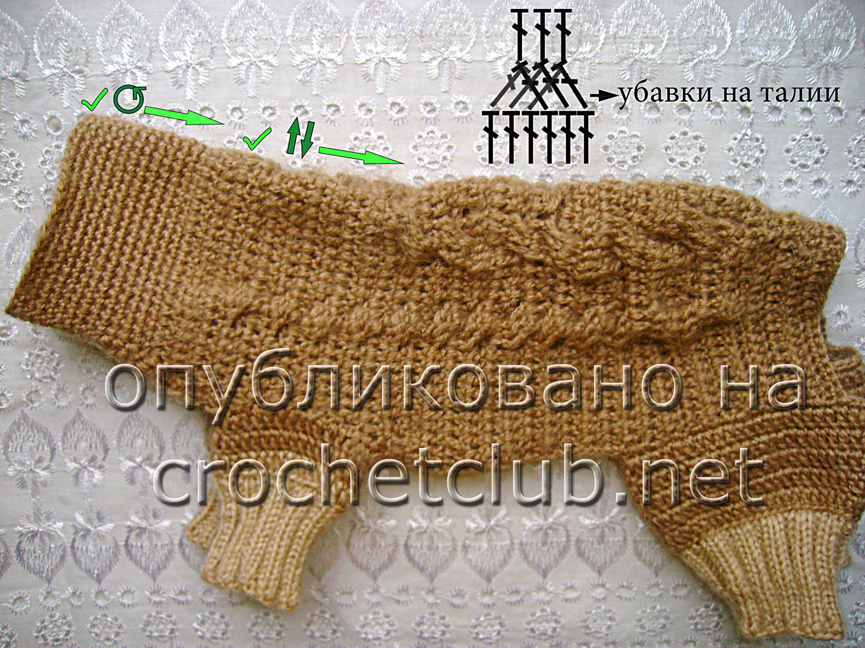 Рисунок для вязания от спины