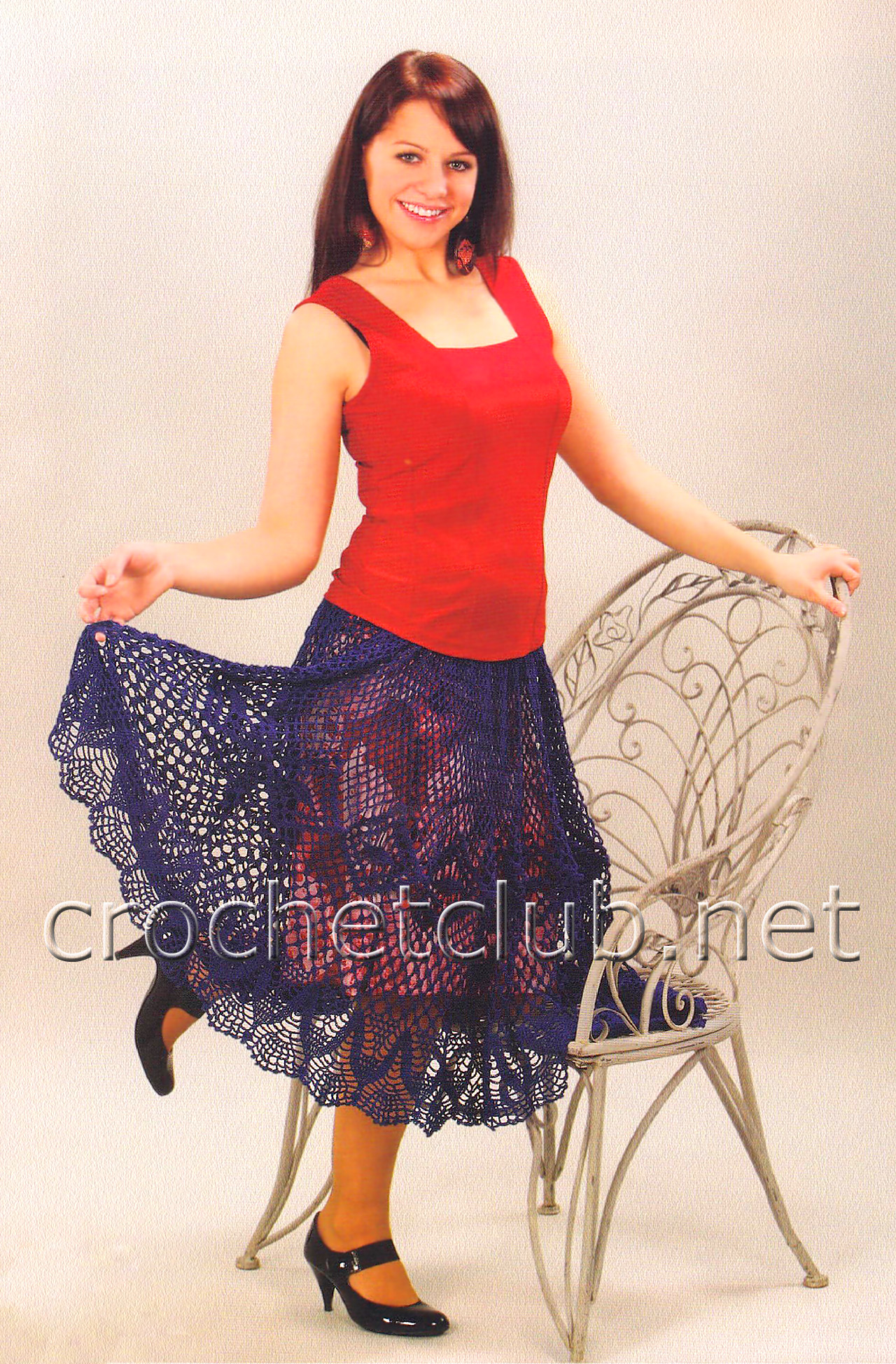 С?хемы вязания юбки - схемы для.