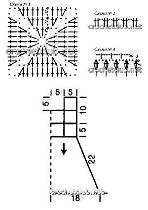 розовое платьице крючком-схемы 1 2 4.