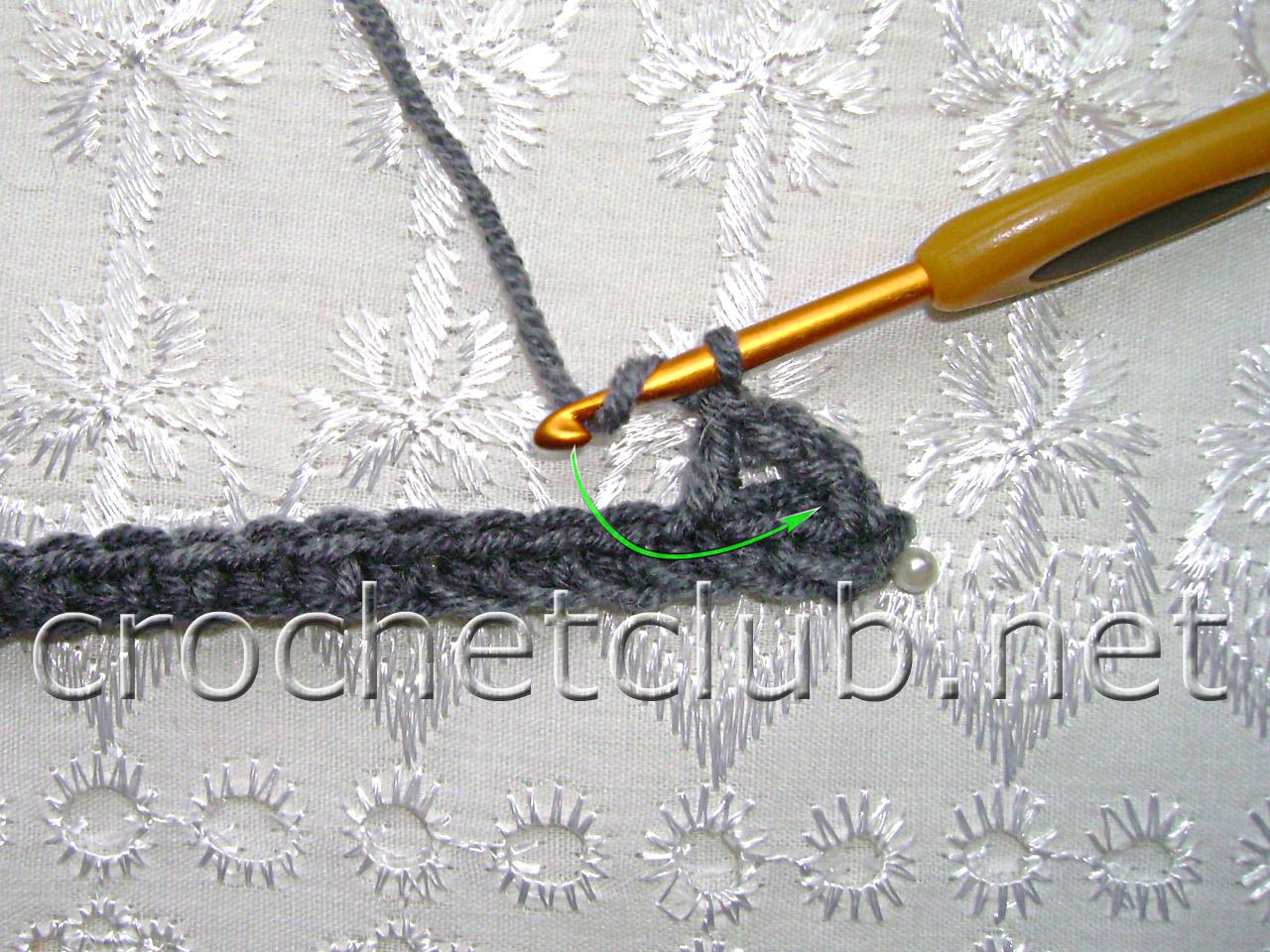 Вязание пышного столбика крючком - Узор крючком с объемными цветами