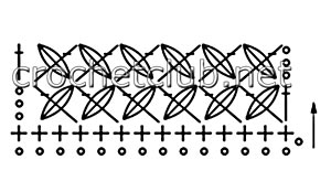 узор пышные столбики-схема