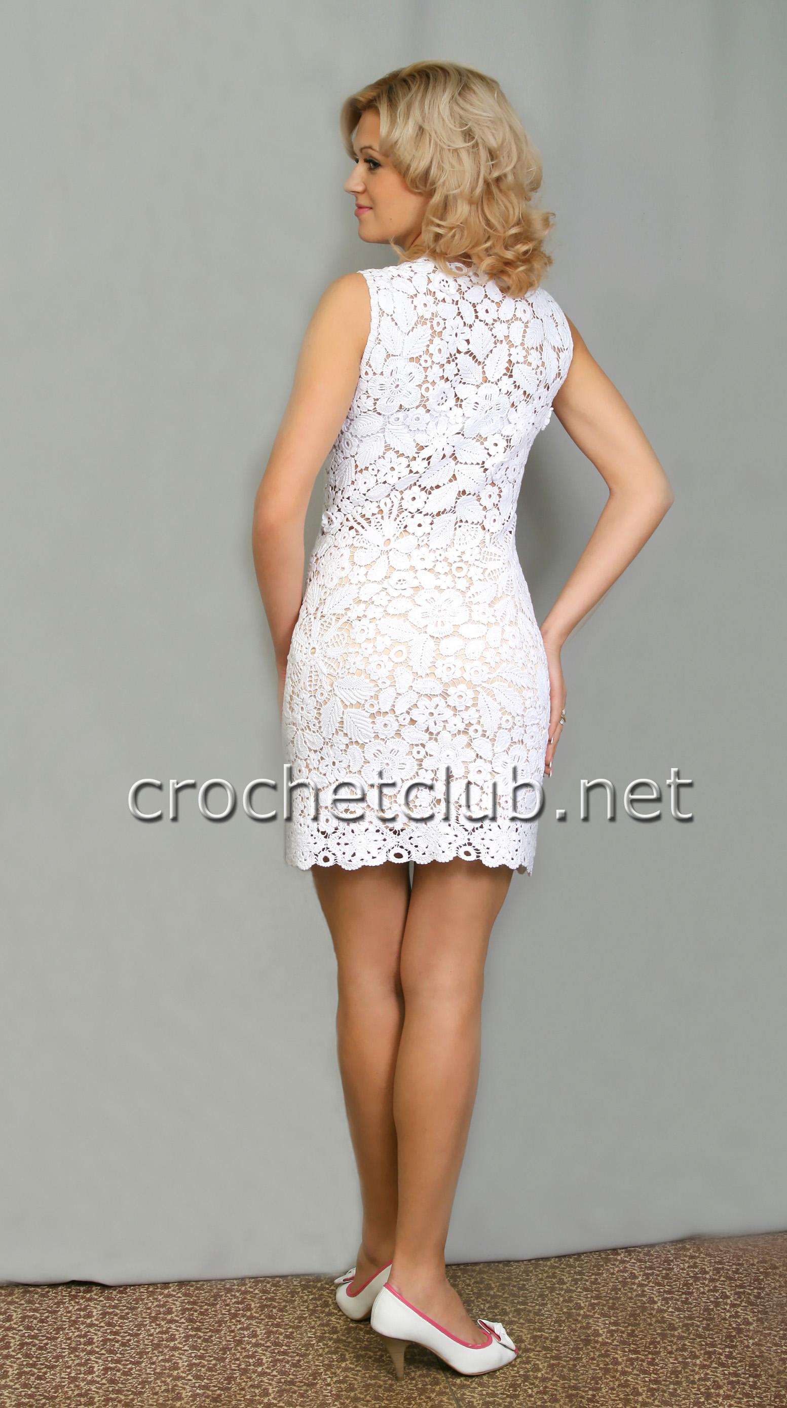 Белое платье крючком схема opelmicrosites.ru