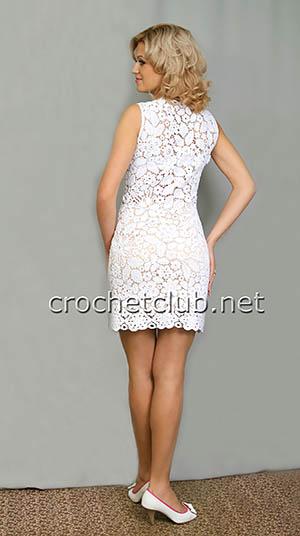 белое платье в технике сцепного кружева 1