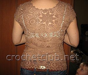 светло-коричневая блуза 1