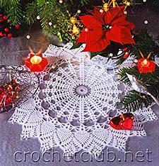 белая новогодняя салфетка