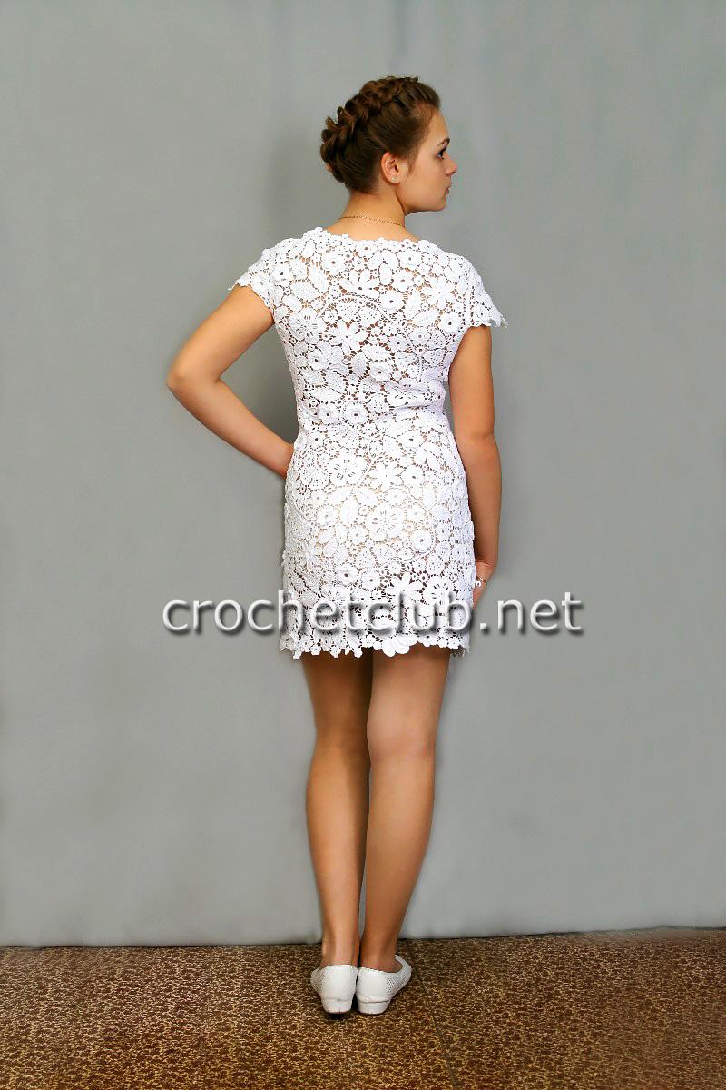 Крючком платья из гипюра