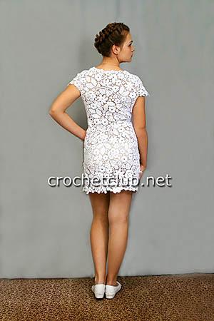 платье в технике сцепного гипюра 1