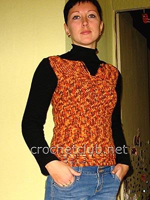 пуловер с жаккардовым рисунком 1