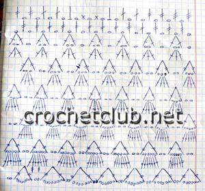 вязаное нарядное платье-схема 2