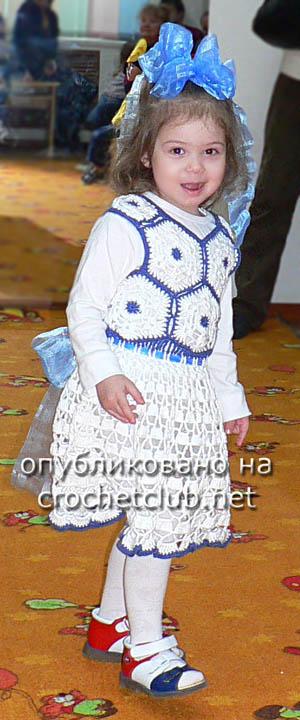 вязаное нарядное платье