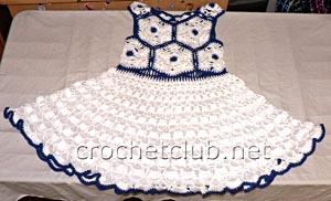вязаное нарядное платье 1