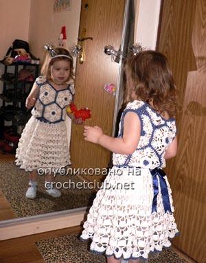 вязаное нарядное платье 2
