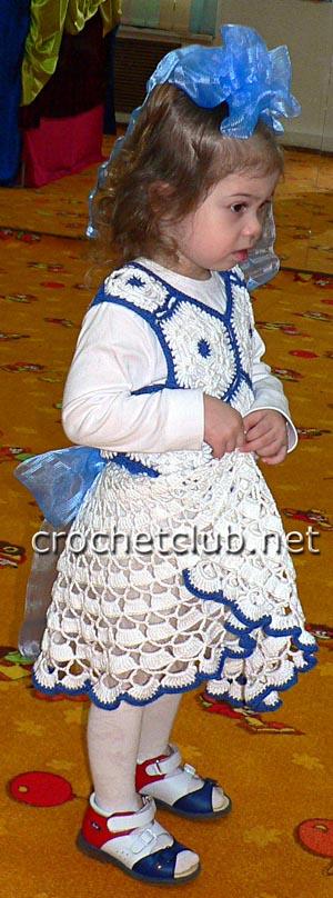 вязаное нарядное платье 3
