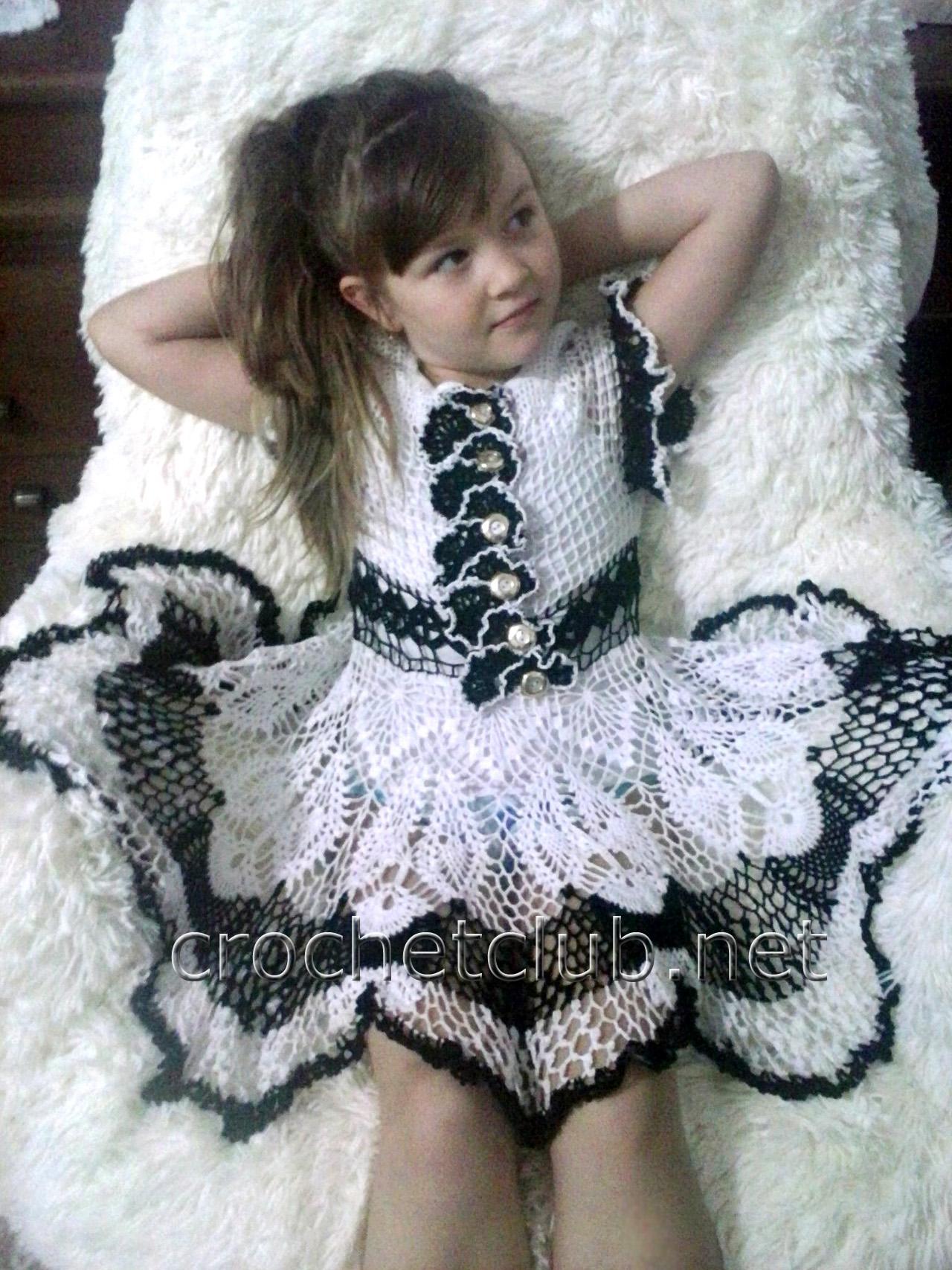 платья на девочек 7 лет крючком схемы и описание