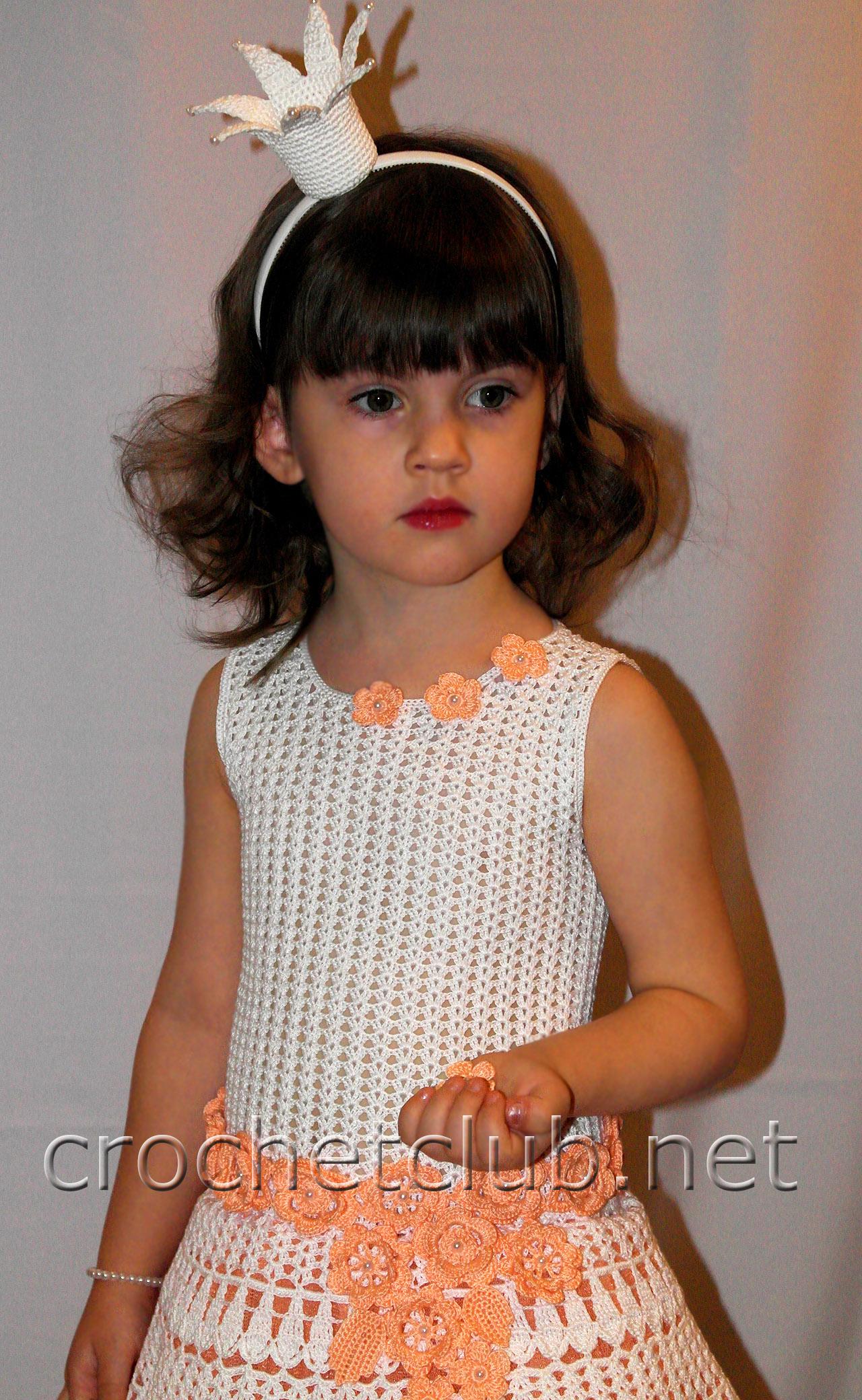 вязаное платье для принцессы вязание крючком блог настика