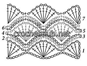 белая маечка с открытой спинкой-схема 2