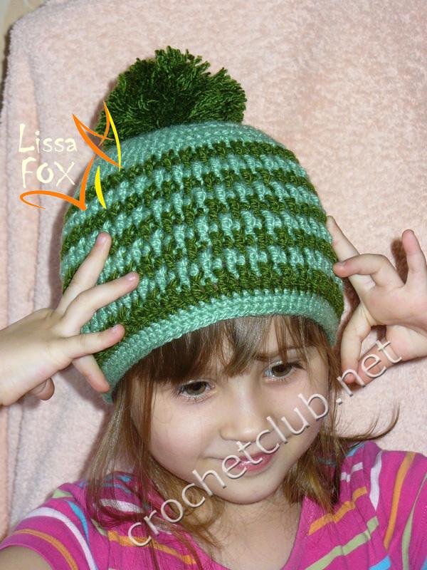 362Вязание градиентом шапку