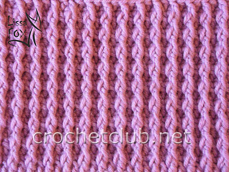 Образцы вязания рельефного