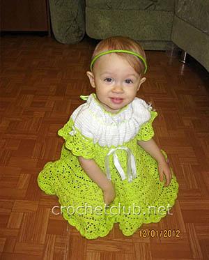 зеленое платье для малышки