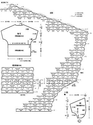 кофта из мохера связанная крючком-схема 2
