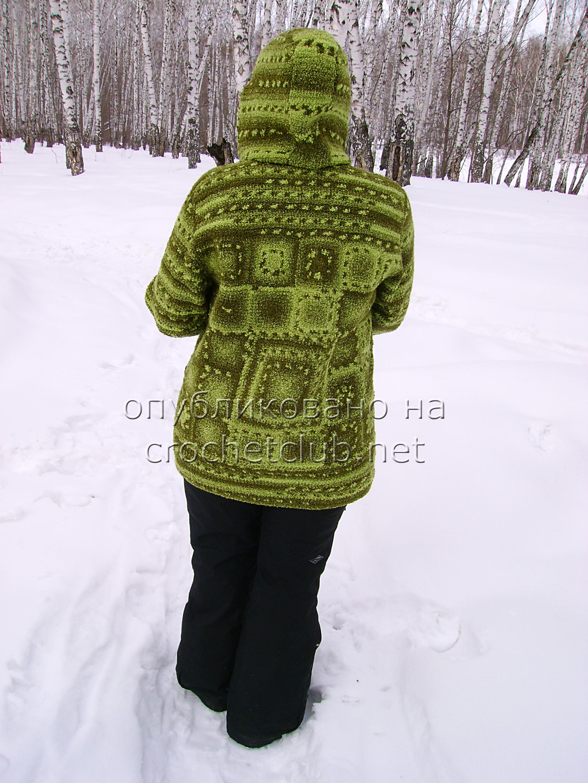 Вязаные куртки крючком фото