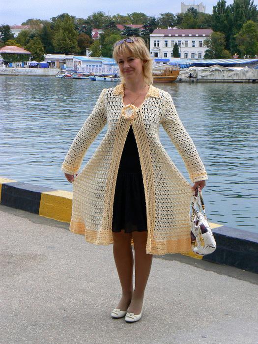 летнее пальто в технике брумстик вязание крючком блог настика