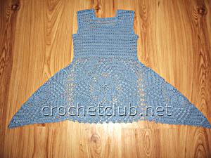 летнее платье из салфеток 1