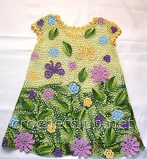 платье для девочки 3 лет в ирландской технике 1