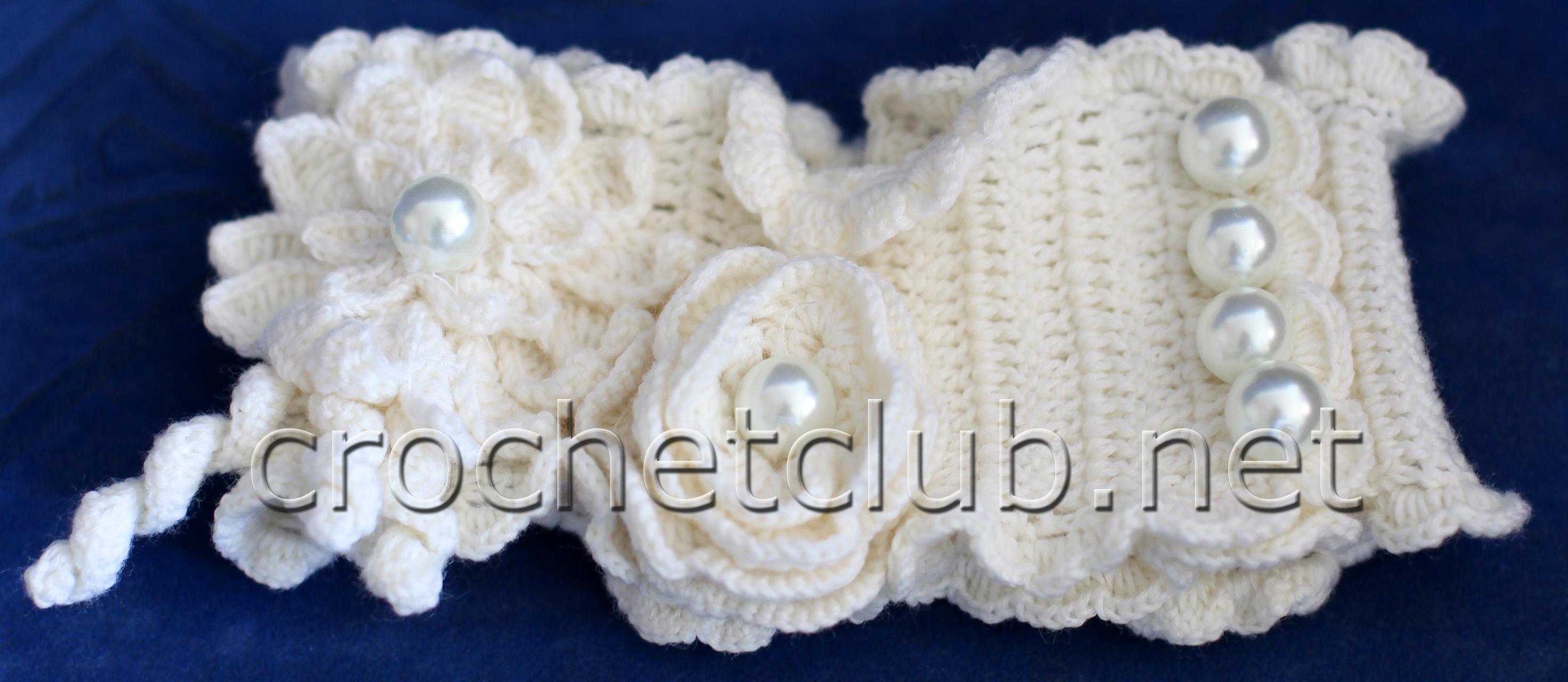 шарф вязанный крючком схема на зиму
