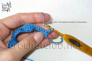 узор крючком объемные веерки 7