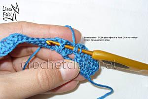 узор крючком объемные веерки 9