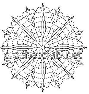 белое вязаное платье-схема 2