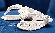 пинетки-босоножки крючком белые 1
