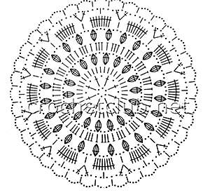 розовый топ в ирландской технике-схема 1