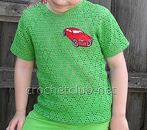 вязаная футболка для мальчика