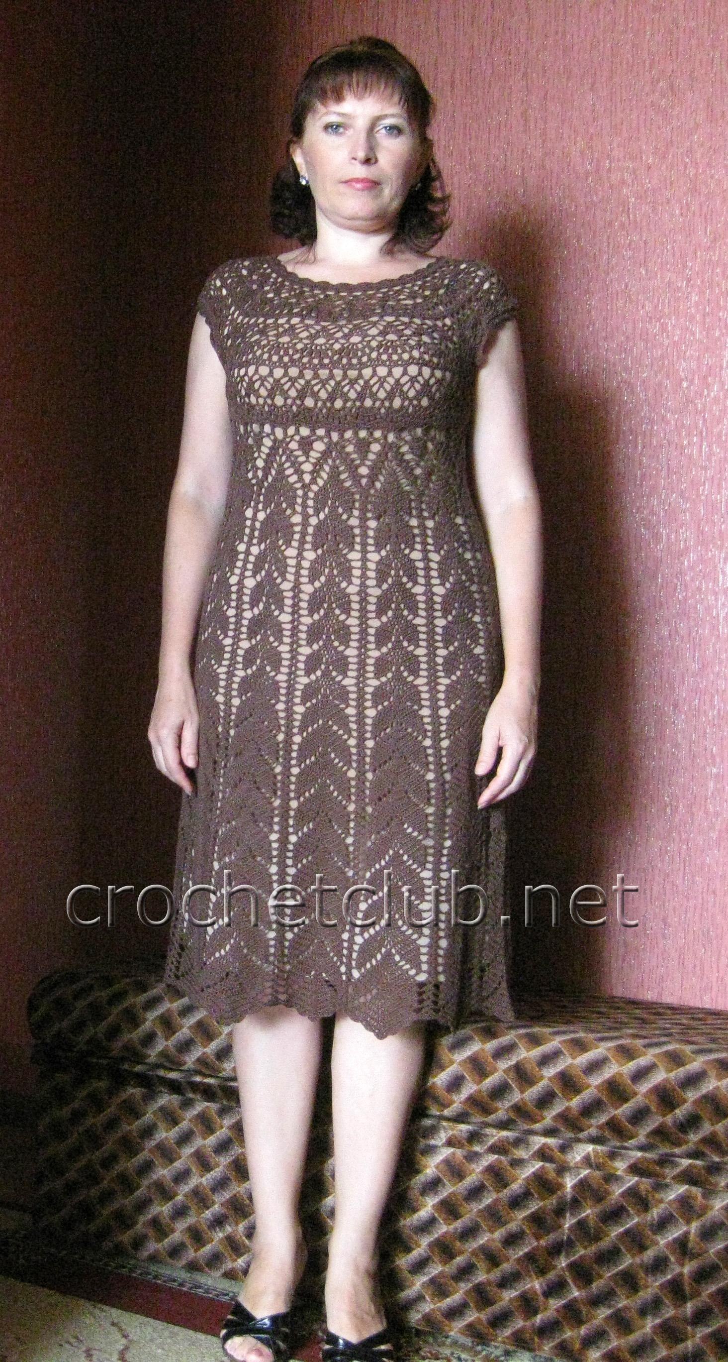 Платье крючком схемы и описания. Более 225 платьев на