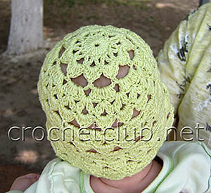детская летняя шапочка 1