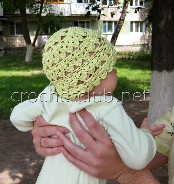 детская летняя шапочка вязание крючком блог настика