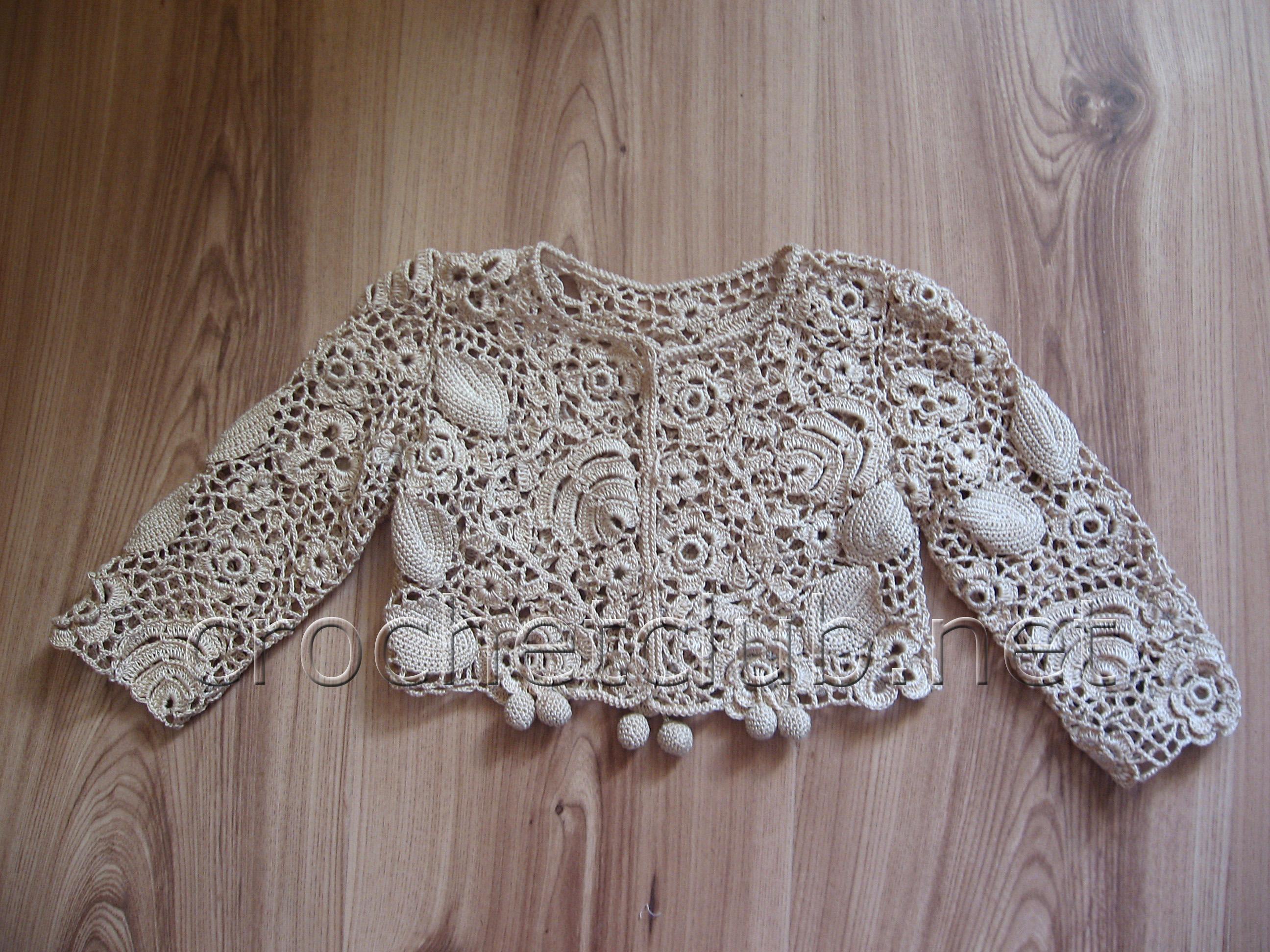 схемы вязания платьев для девочек по ирландскому кружеву